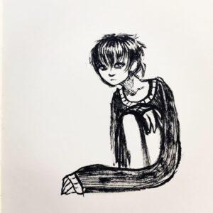 Tegning af Astrid